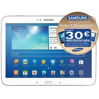 Tablette Tactile Samsung Galaxy Tab 3 10.1 (30€ ODR)