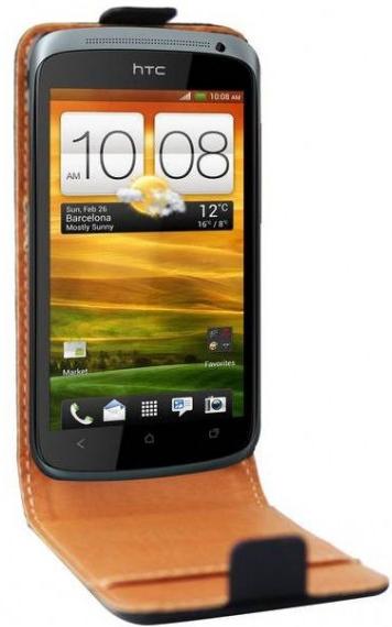 Etui cuir véritable Swiss Charger pour HTC One S