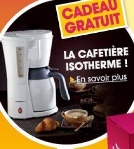 Cafetiere isotherme + Lot de 4 gants de toilette + 15 euros en bon d'achat