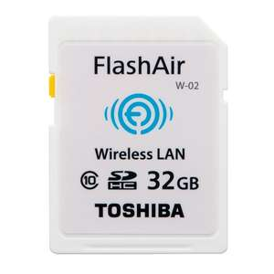 Carte WiFi et Mémoire 32Go SDHC Classe 10 Toshiba