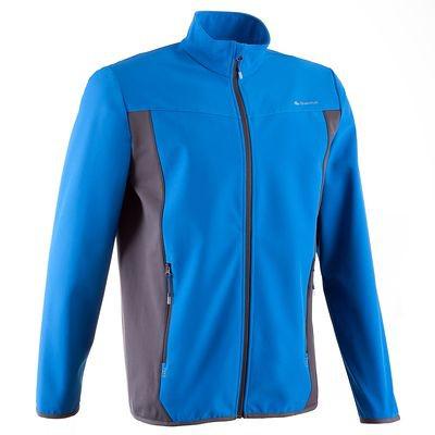 Veste randonnée homme Quechua Softshell Forclaz 500 - Bleue