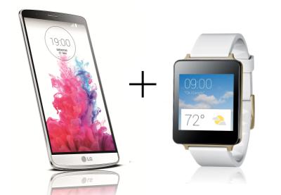 "Smartphone 5.5"" LG G3 16 Go Titane + Montre connectée LG G Watch"