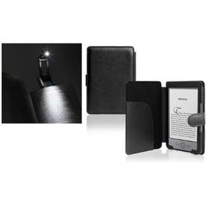 Etui en cuir pour liseuse Amazon Kindle 4 + Lampe LED