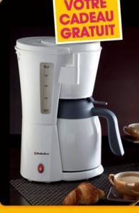 Cafetiere isotherme  + 15 euros en bon d'achat