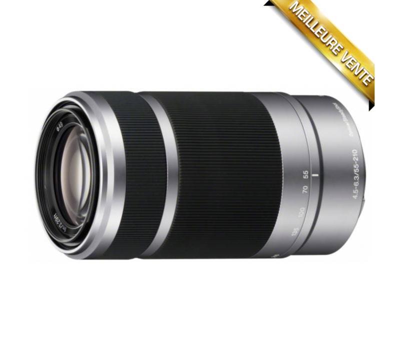 Objectif pour Hybride Sony SEL 55-210mm F4,5-6,3 OSS Argent (Avec ODR 30€)