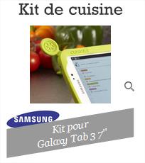 """Kit de cuisine pour Samsung Galaxy Tab 3 7"""""""