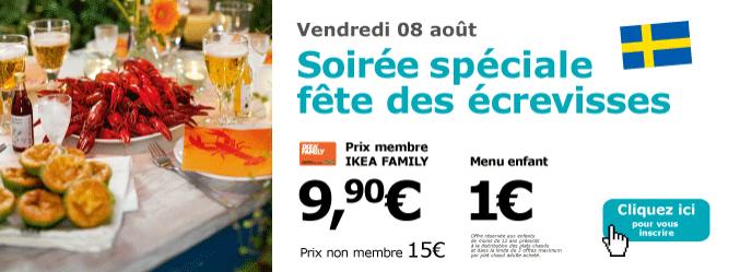 [Ikea Family] Soirée écrevisses : Formule buffet