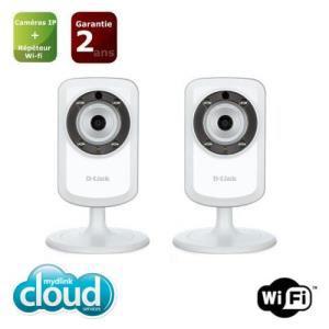 Pack de 2 caméras IP WiFi Mydlink jour/nuit D-Link DCS-933L