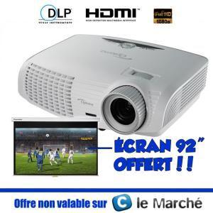 "Vidéoprojecteur Optoma HD131XEW Full HD + écran 92"" offert"
