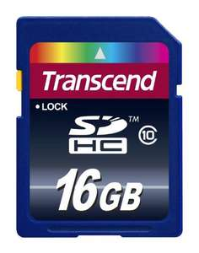 Carte mémoire SDHC Classe 10 Transcend 16 Go (TS16GSDHC10E)