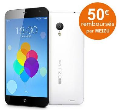 """Smartphone 5.1"""" Meizu MX3 32 Go  Blanc (Avec ODR de 50€ )"""