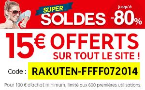 15€ de réduction dès 100€ d'achat
