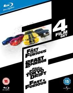 Fast and Furious - Intégrale 4 films en Blu-ray