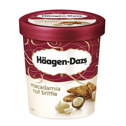 Lot de 2 pots de Glace Häagen-Dazs macadamia
