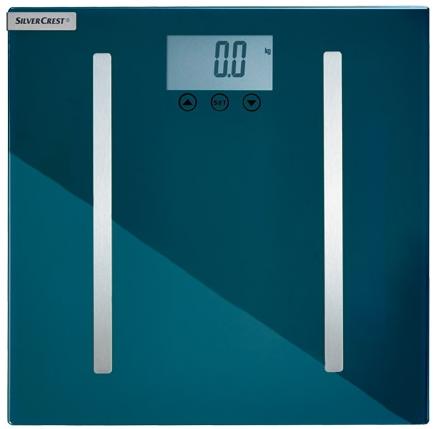 Balance impédancemètre Silvercrest Multifonction (besoin en calories, la masse grasse...)