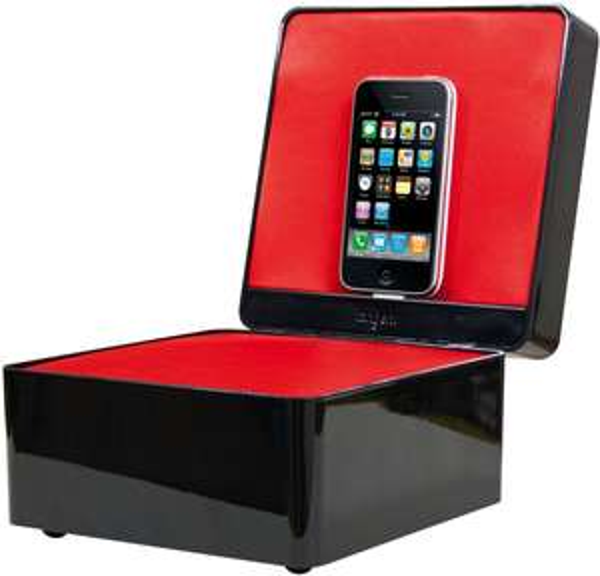 Enceinte, dock et chaîne iPod/iPhone Tangent Pearlbox avec télécommande