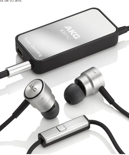 Ecouteurs intra-auriculaires AKG K391 (Télécommande et microphone) - Annulation active du bruit