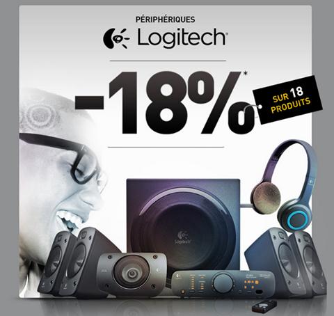 -18% sur 18 produits Logitech