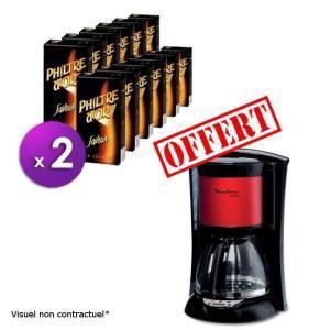 24 paquets de café moulu Philtre d'or Saveur 250g + Cafetière Moulinex Subito