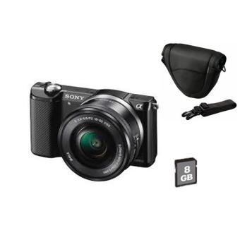 [adhérents Fnac] Appareil photo Hybride Sony A5000 + objectif 16-50 mm PZ + Housse + SD 8Go (avec ODR 50€ + 79,94€ en bons d'achats)