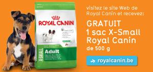 Un sac d'aliments pour chien SHN XSMALL 500 gr (junior, adult ou mature) offert