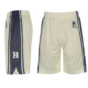Shorts NCAA Basket-ball homme bleu, vert, marron et blanc disponible