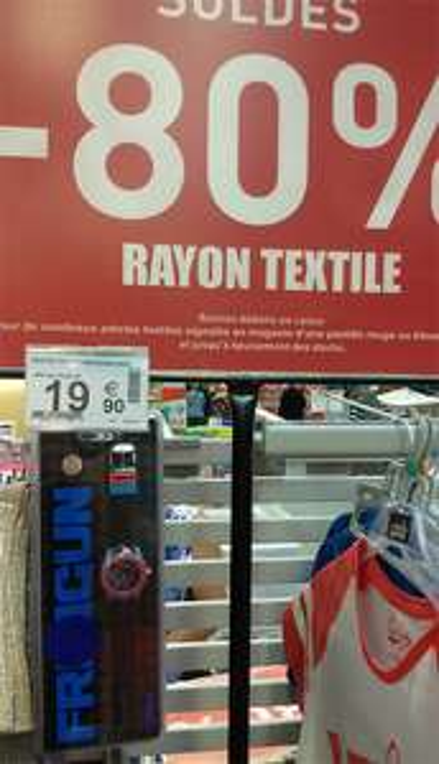 Jusqu'à -80% sur le rayon textile