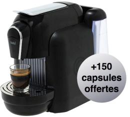 Machine à capsule Delta Qool 1.1 Noire + 150 capsules