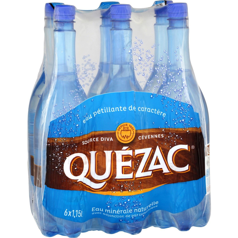 2 packs d'eau Quezac (6 x 1.15L)