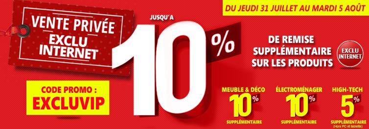 -10% sur une sélection de meubles, electroménager et high tech