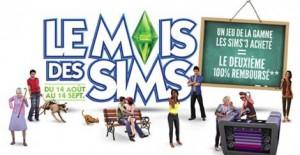 Les Sims 3 : 2 jeux achetés = 1 remboursé