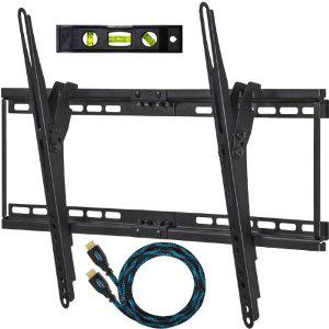"""Support mural TV (32"""" à 65"""") + Câble HDMI tressé 3m + Niveau à bulles"""