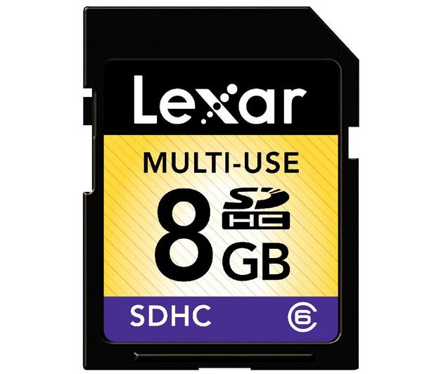Carte mémoire SDHC Lexar Classe 6 - 16 Go à 6.99€ et 8 Go