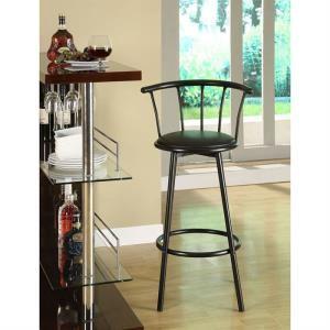 Tabouret de bar Bistrot noir avec assise pivotante