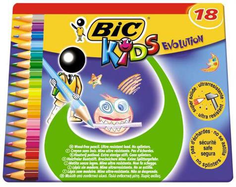 18 crayons de couleur Bic évolution (avec 50% sur la carte)