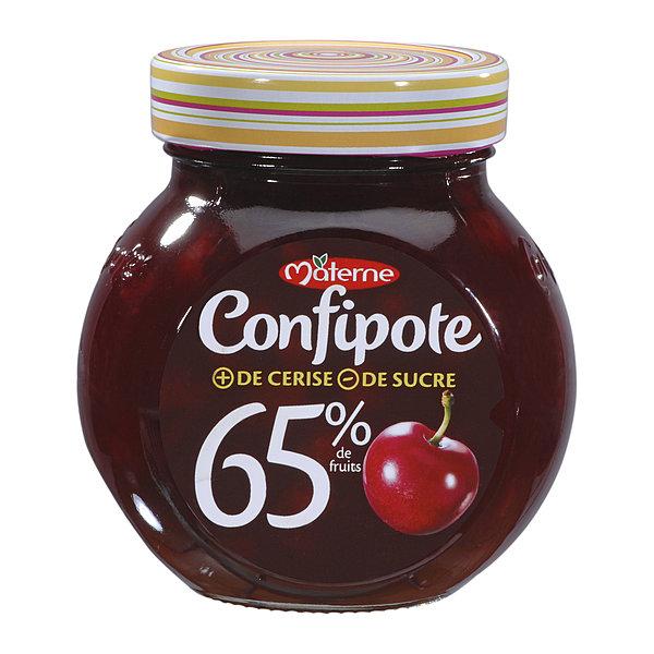 Confiture Confipote goût fraise, abricot, cerise ou figue