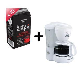 10 paquets de café + 1 cafetière Maison du café