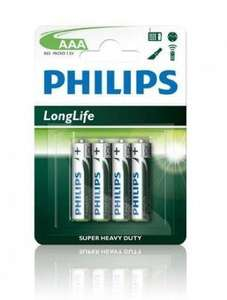 96 piles AAA Philips LongLife Battery