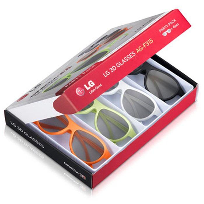 LG AG F315 Party Pack : 4 paires de Lunettes Cinéma 3D Passives