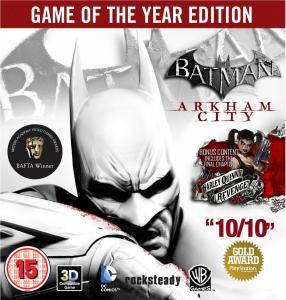 Batman: Arkham City Edition Jeu de l'année / Game of the Year Edition (GOTY) (PlayStation 3, Xbox 360), PC à 21,57€ et sur consoles