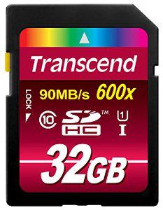 Carte mémoire SDHC Transcend 32 Go Classe 10 UHS-I 600x