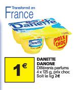 4 pots de Danette (avec bon de réduction)