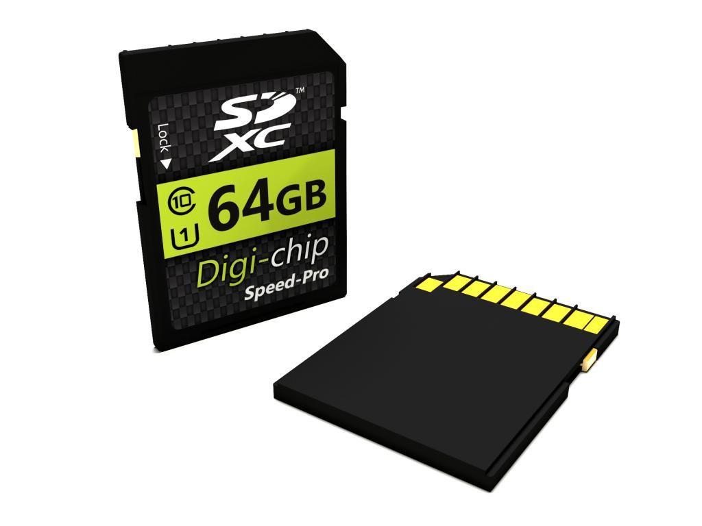 Carte mémoire SDXC Digi-Chip 64Go Classe 10