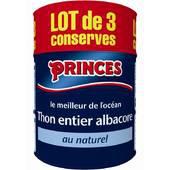 6 boites de thon entier albacore au naturel Princes