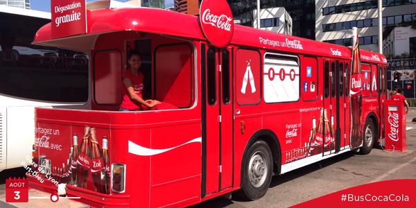 Tournée bus Coca 2014 : Canette personnalisée gratuite