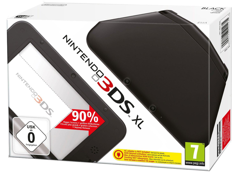 Console Nintendo 3DS XL Noire ou Noire/Rouge