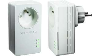 Pack de 2 adaptateurs CPL Ethernet Powerline Netgear XAVB1401-100FRS