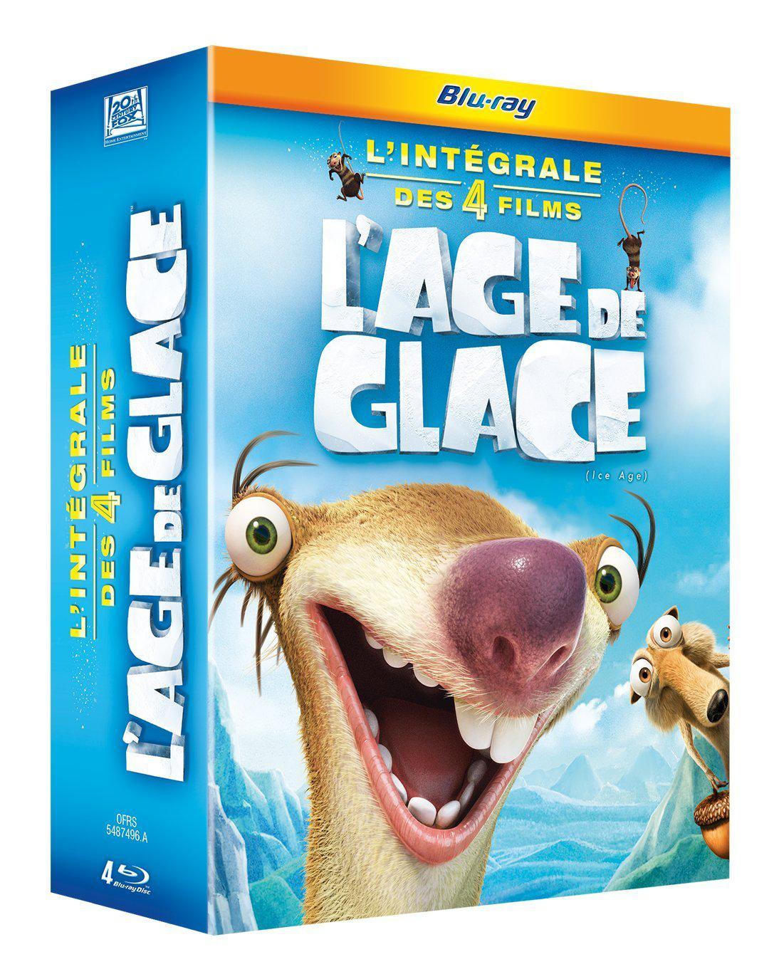 Coffret Blu-ray L'Age de glace - L'intégrale des 4 films
