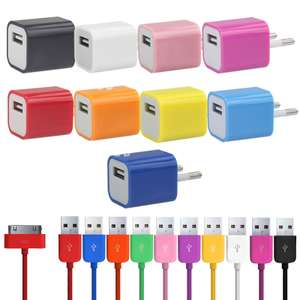 Chargeur USB + cable USB data pour iPhone 4/4S, iPod