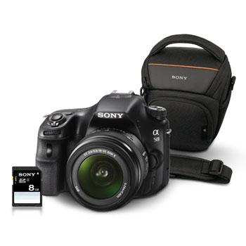 Appareil photo numérique Reflex Sony Alpha 58 + DT 18-55mm + housse + carte SD 8 Go